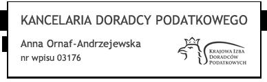 Kancelaria Doradcy Podatkowego Anna-Ornaf Andrzejewska